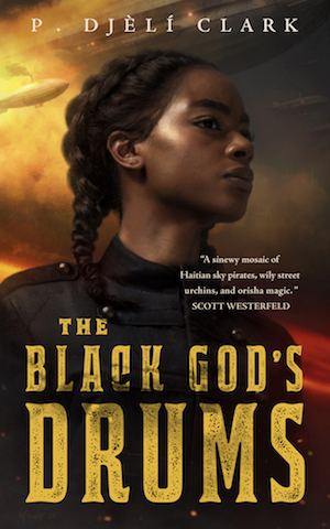 The cover of the book The Black God's Drums